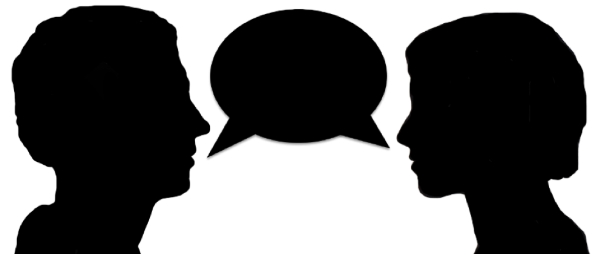 Talking head silhouette at. Yelling clipart speak loud
