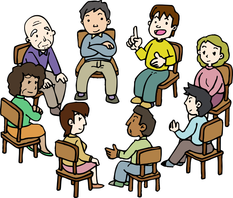 Study clipart kids group discussion. Diverse medium image png