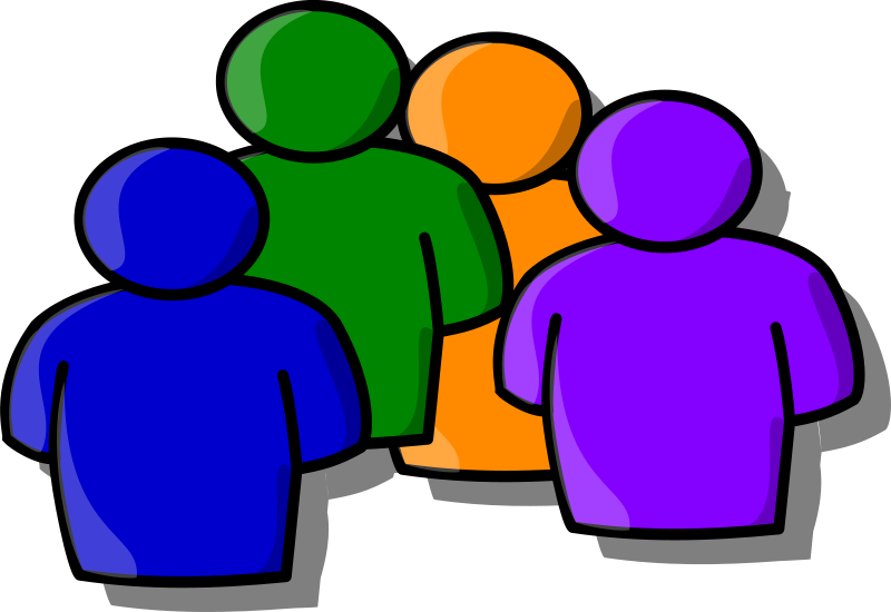 Abstract people medium image. Conversation clipart in depth