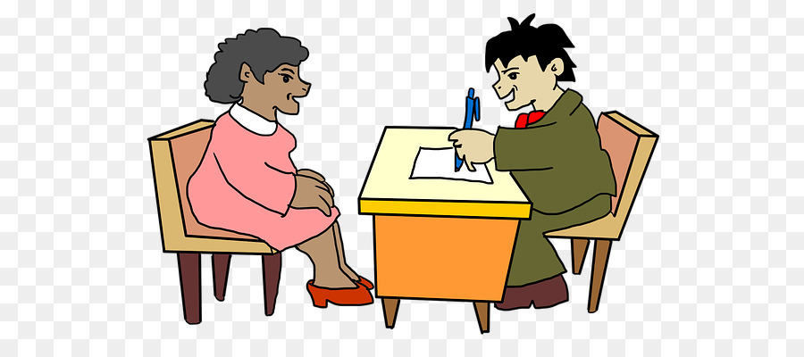 Cartoon learning text . Conversation clipart interview