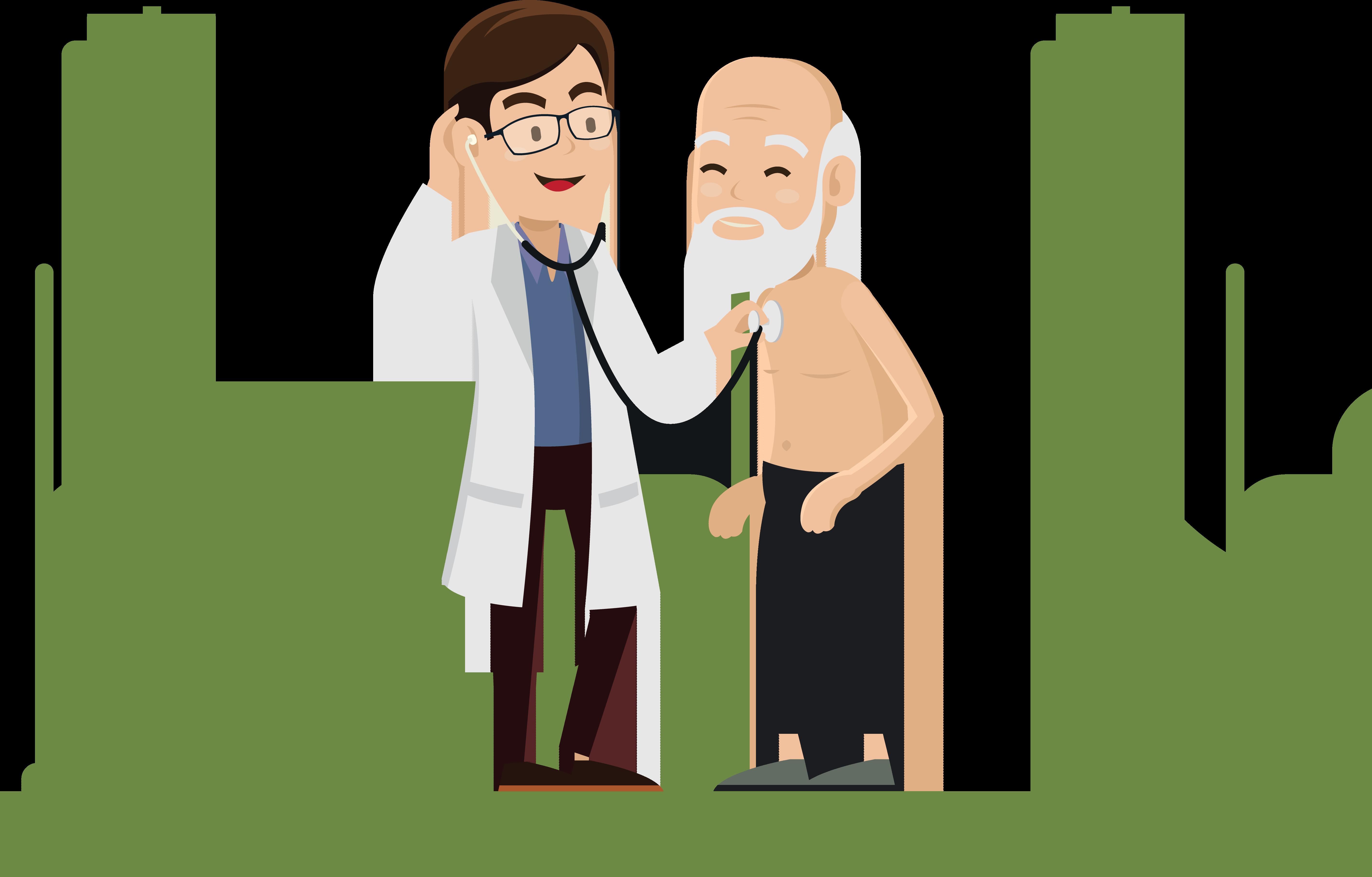 Physician hospital bed doctors. Patient clipart doctor patient communication