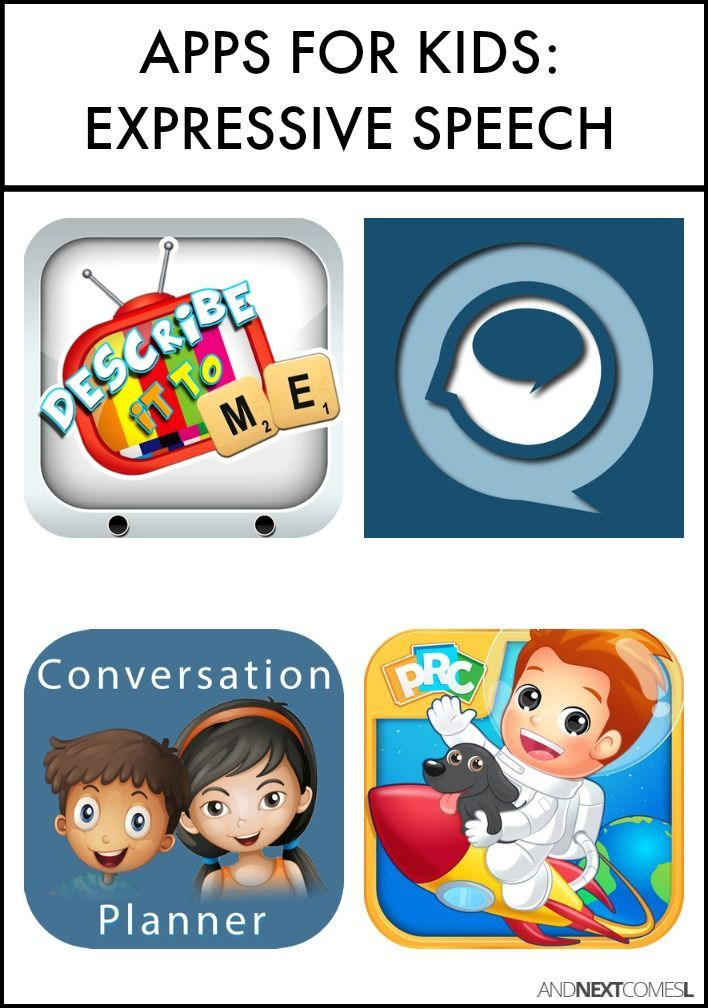 Speech apps for kids. Conversation clipart language skill
