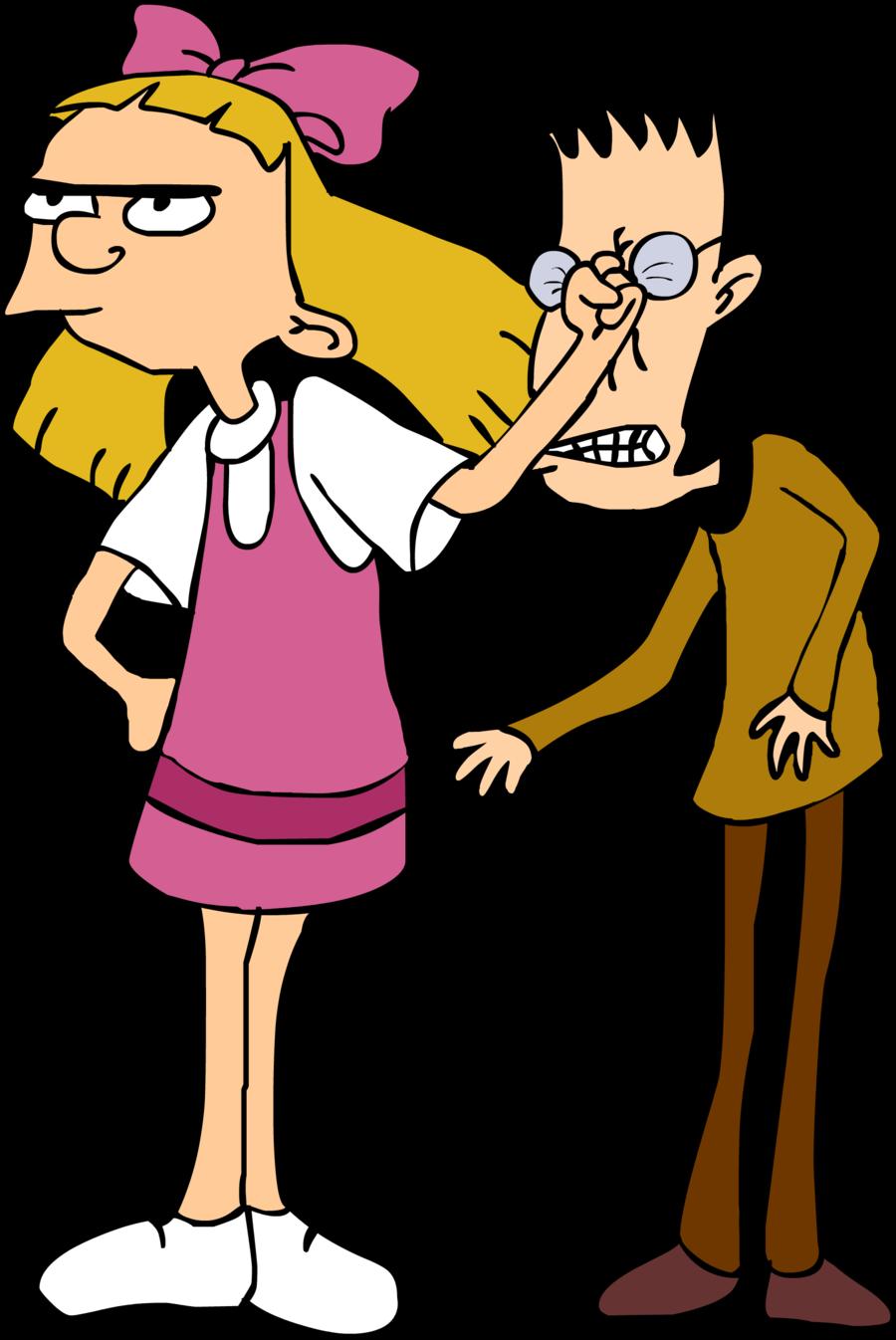 Helga punching brainy hey. Conversation clipart power