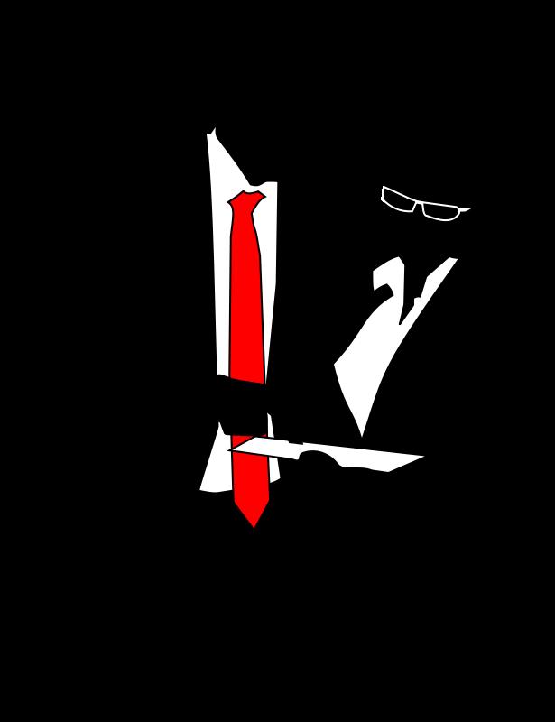 Businessperson free content clip. Conversation clipart silhouette