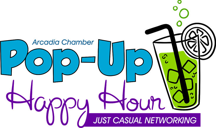 Arcadia chamber of commerce. Conversation clipart social hour