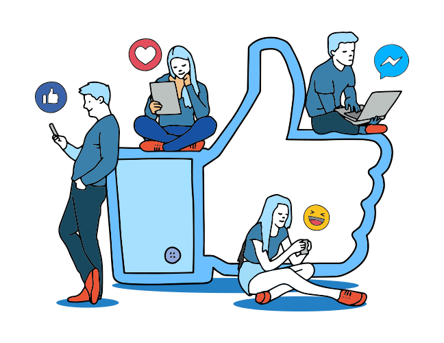 Lead generation through media. Conversation clipart social hour