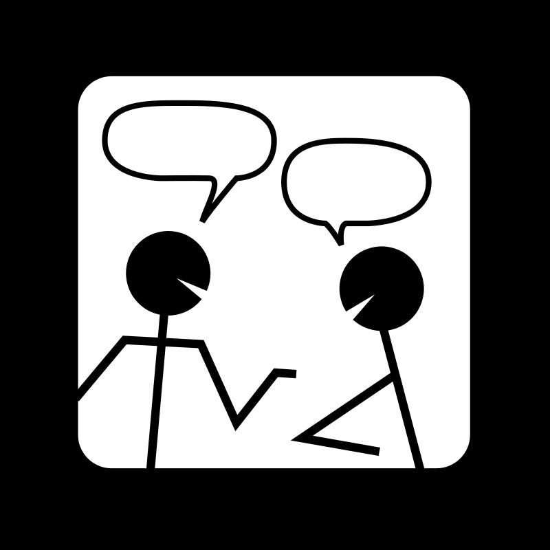 Conversation clipart spoken. When the speaker is