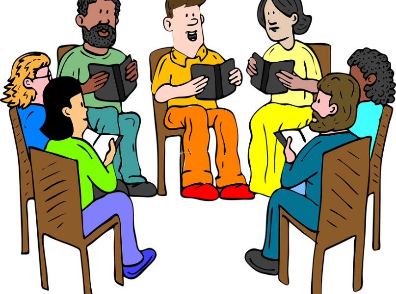 Five reasons to join. Conversation clipart study group