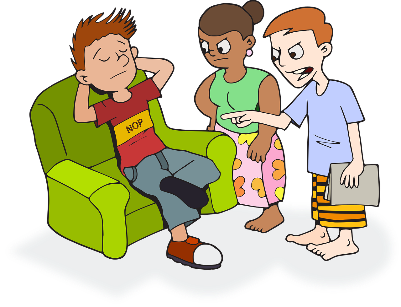 Conversation clipart subordinate. The myth of laziness