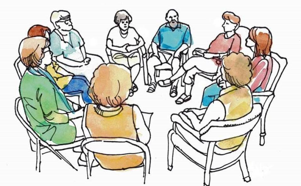 Talbot hospice offers new. Conversation clipart support group