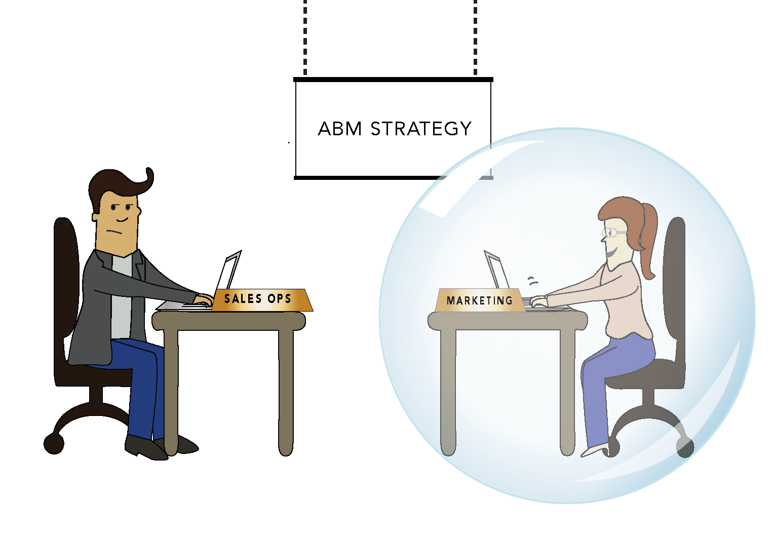 Marketing teams get out. Conversation clipart topic