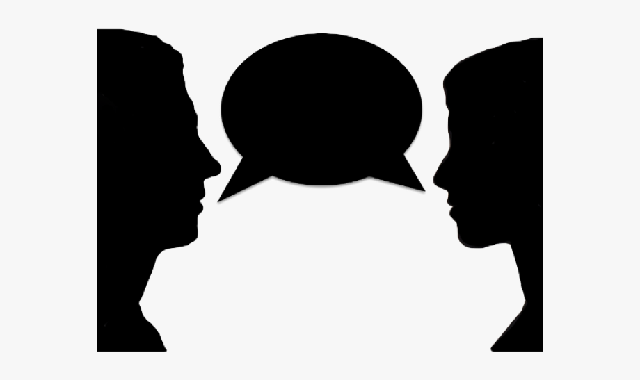 Conversation clipart transparent background. Two people talking images