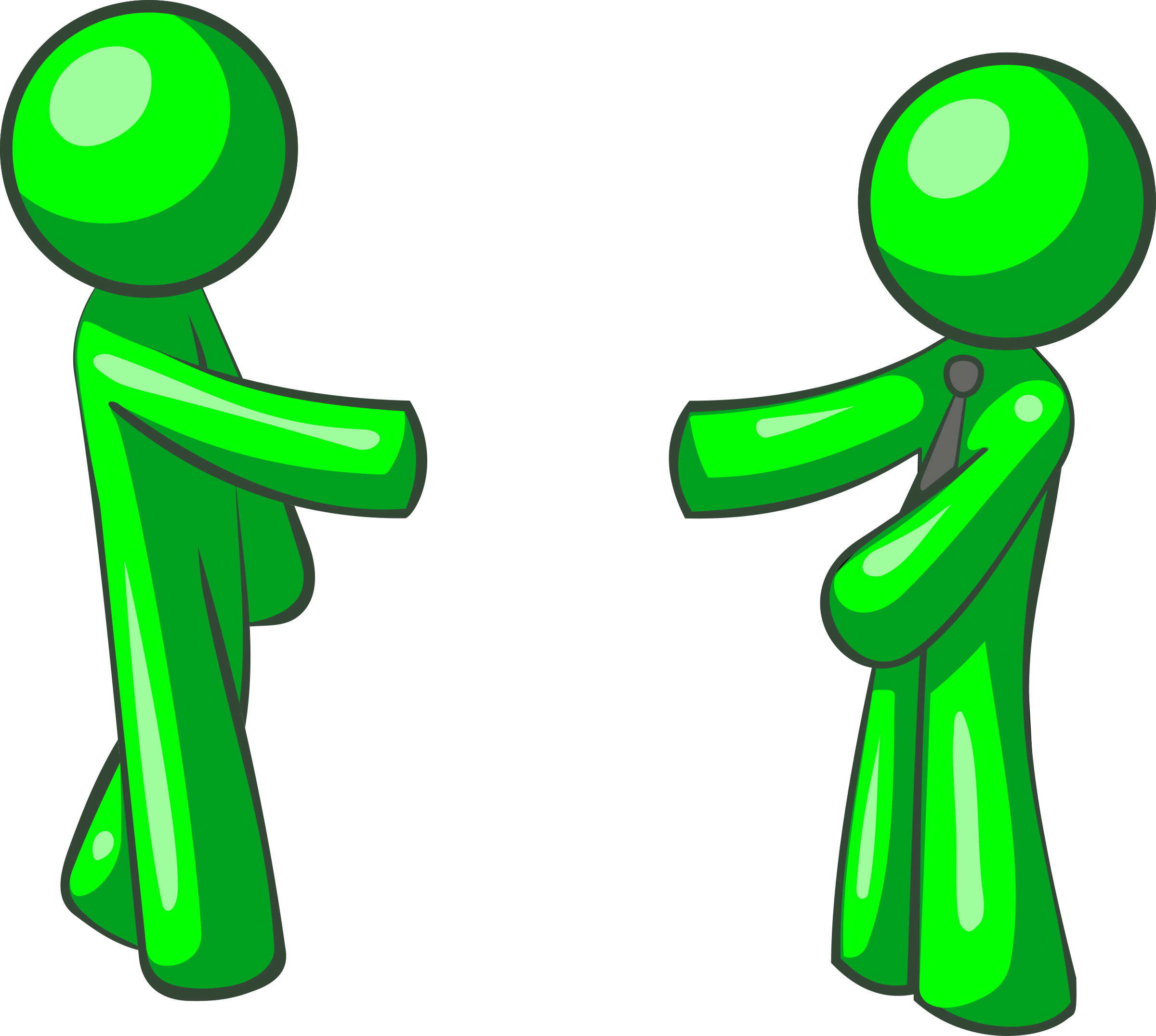 Shacking hand version icons. Men clipart green
