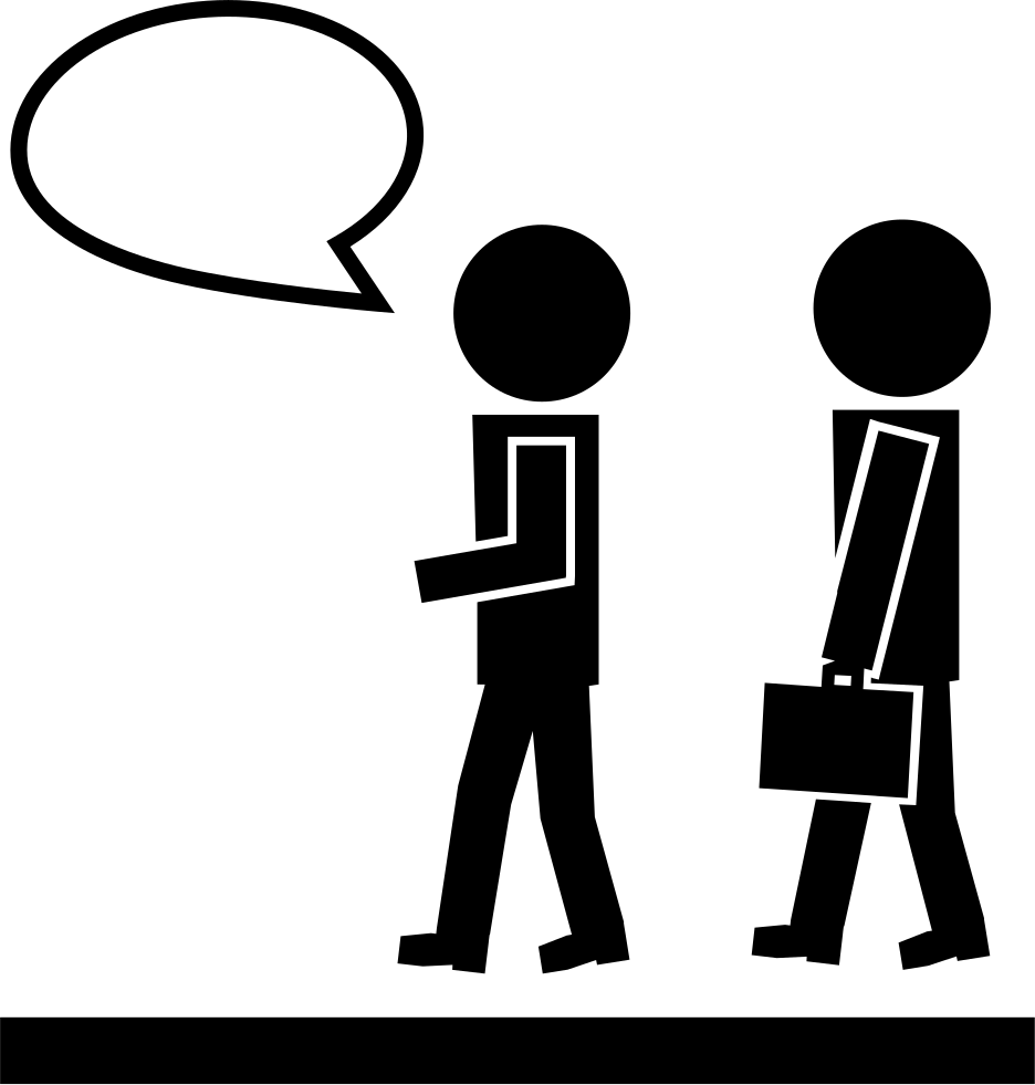 Walking one talking and. Conversation clipart two man