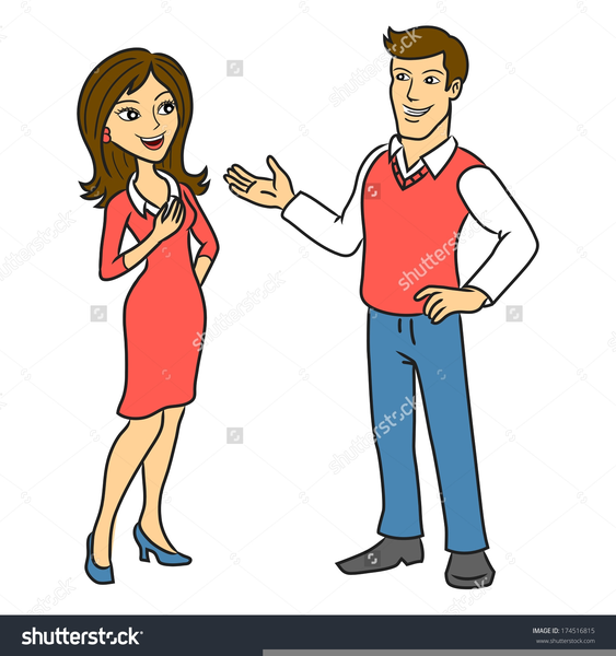Persons talking free images. Conversation clipart two person