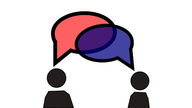 From one criticism to. Conversation clipart two way