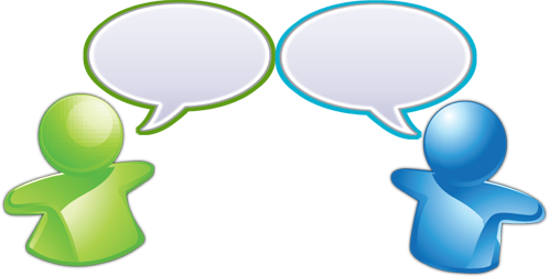 Being a good communicator. Conversation clipart two way