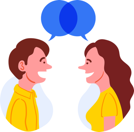 Conversation clipart two way. Ai lead qualification and