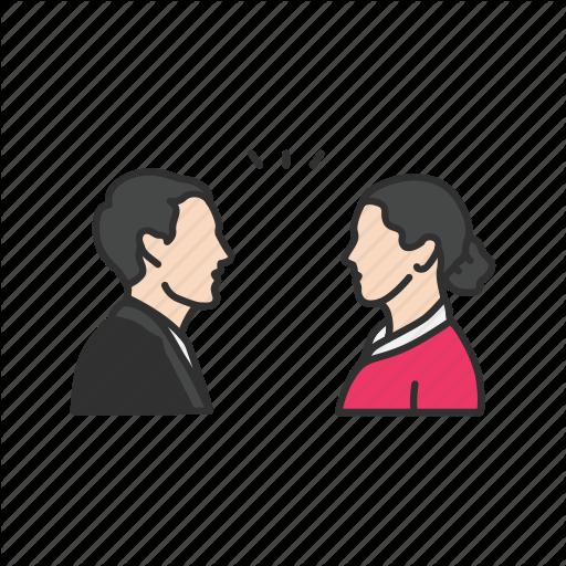 verbal communication colored. Conversation clipart woman conversation