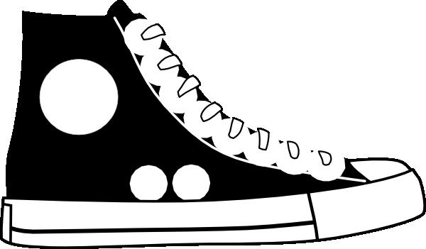 Converse clipart. Black clip art at