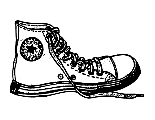 Colorful sneakers . Converse clipart