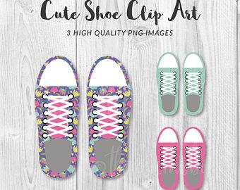 Converse clipart. Etsy cute shoe clip