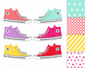Etsy all star digital. Converse clipart