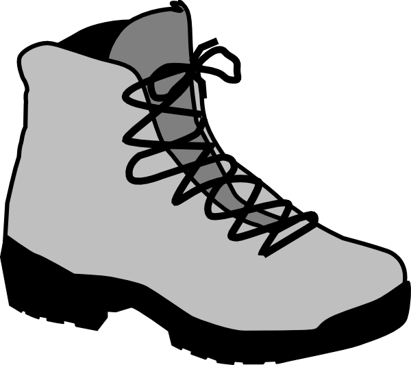 Unique Hiking Boot Coloring Page Vignette