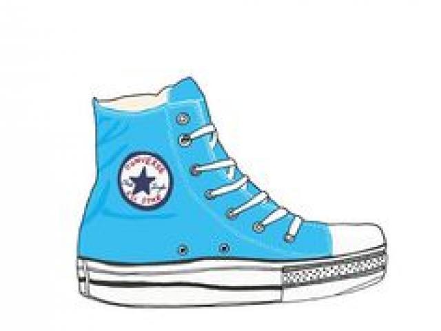 Converse clipart blue clipart. Free download clip art