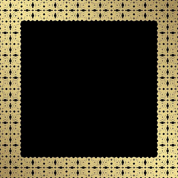 Converse clipart border. Decorative frame png gold