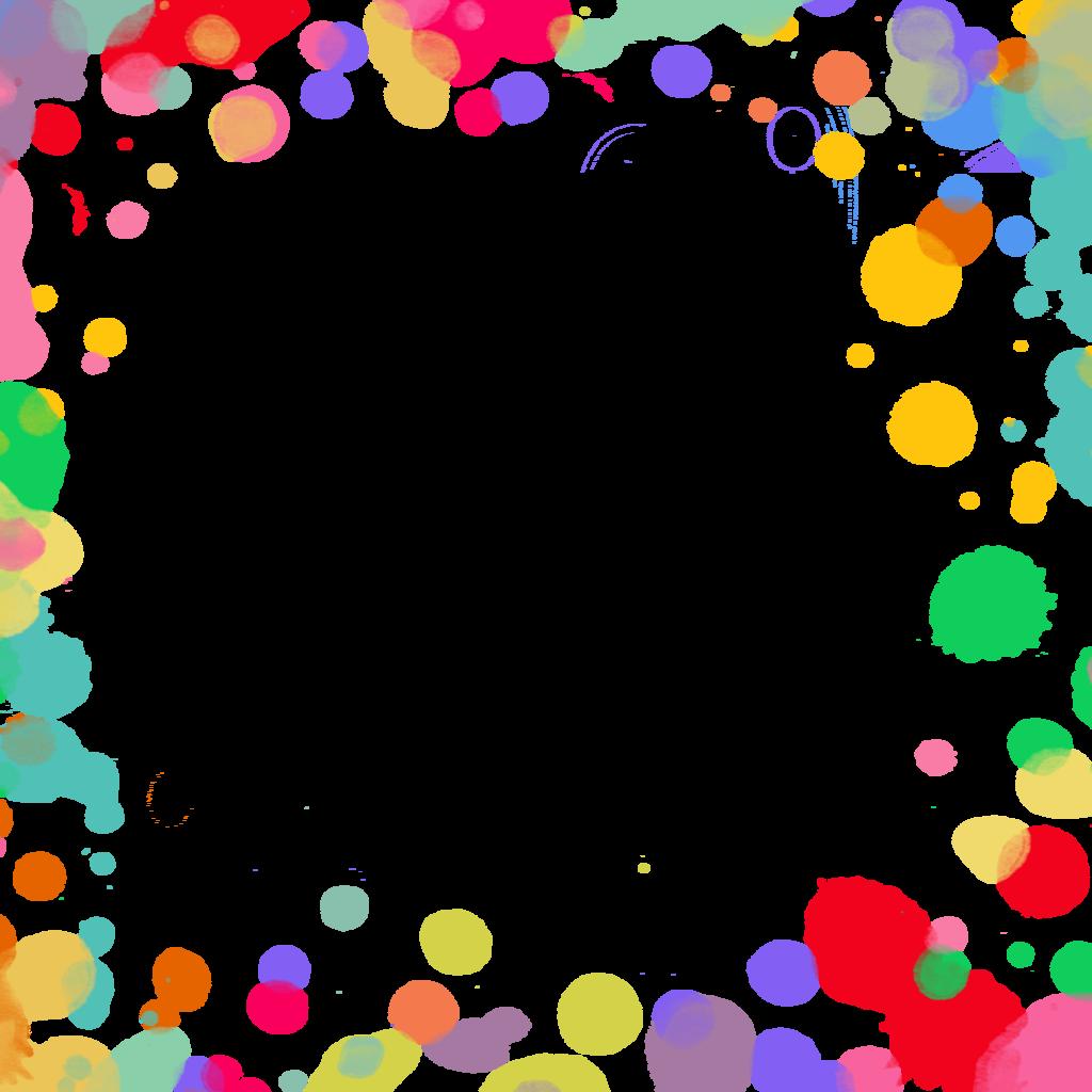 Splatter overlay by hggraphicdesigns. Donut clipart border