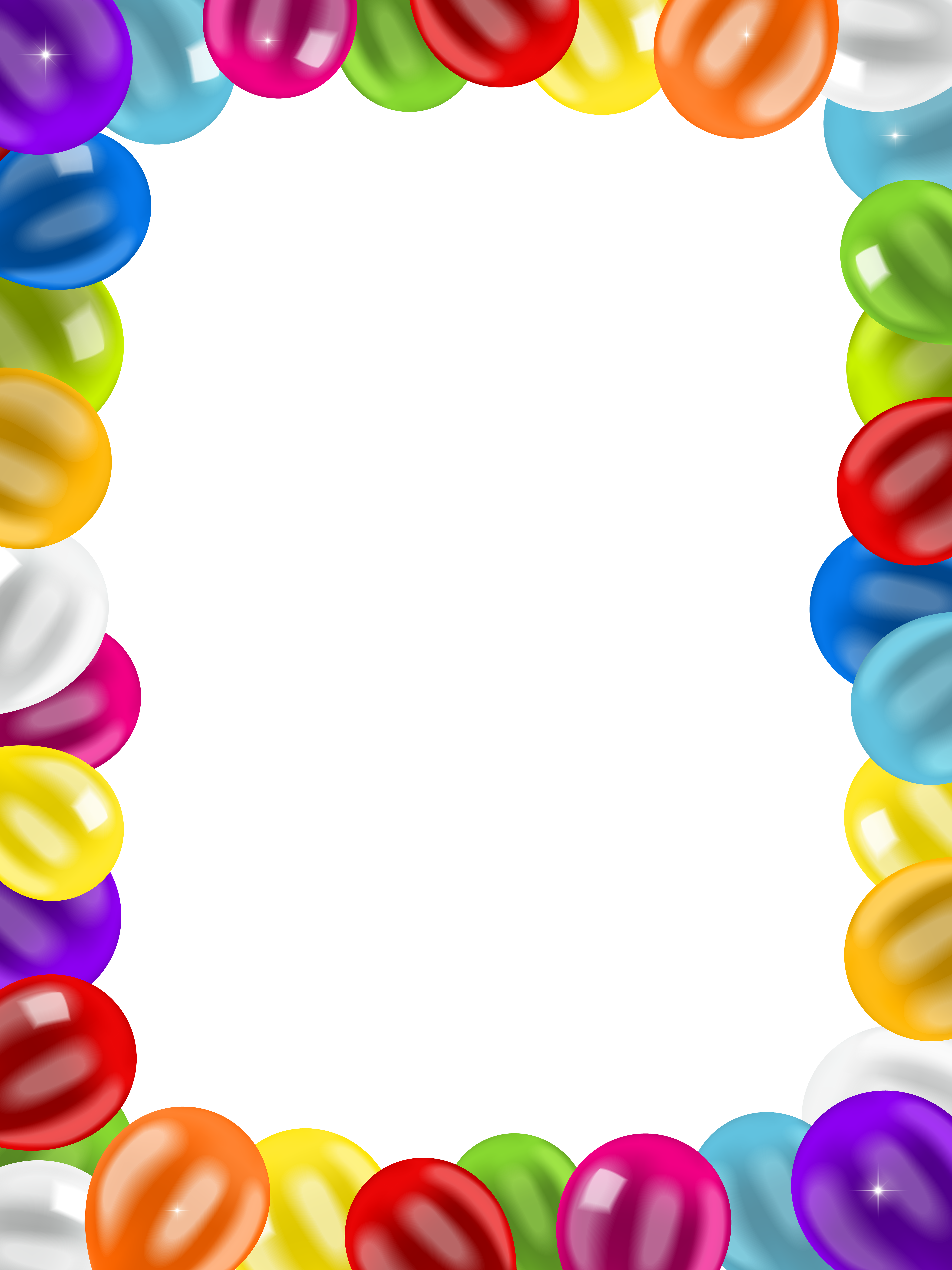 Balloons border frame png. Fly clipart filthy