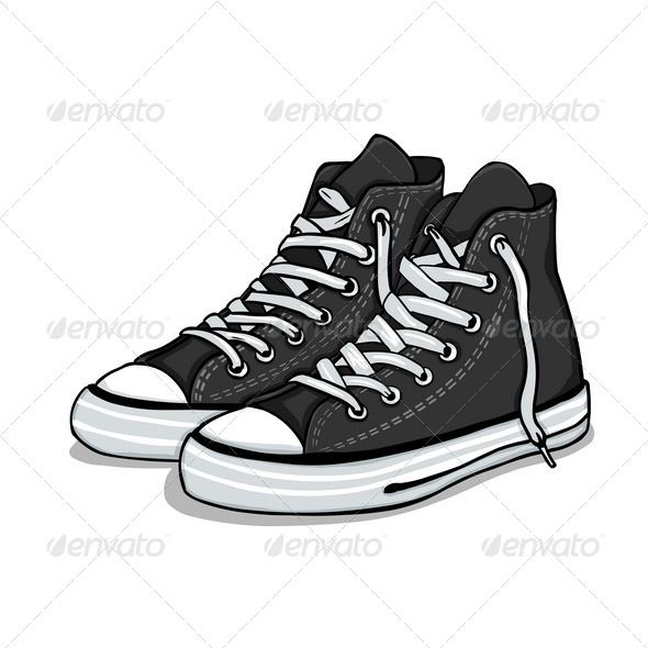 Converse clipart boy shoe. Black gumshoes shoes hip