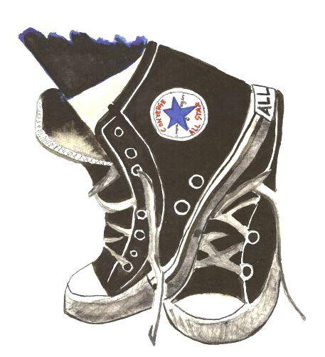 Converse clipart chuck taylor clipart. Desenharts by canttextthis shoe
