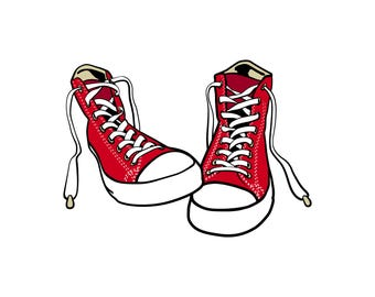 Converse clipart foot wear. Eps png dxf etsy