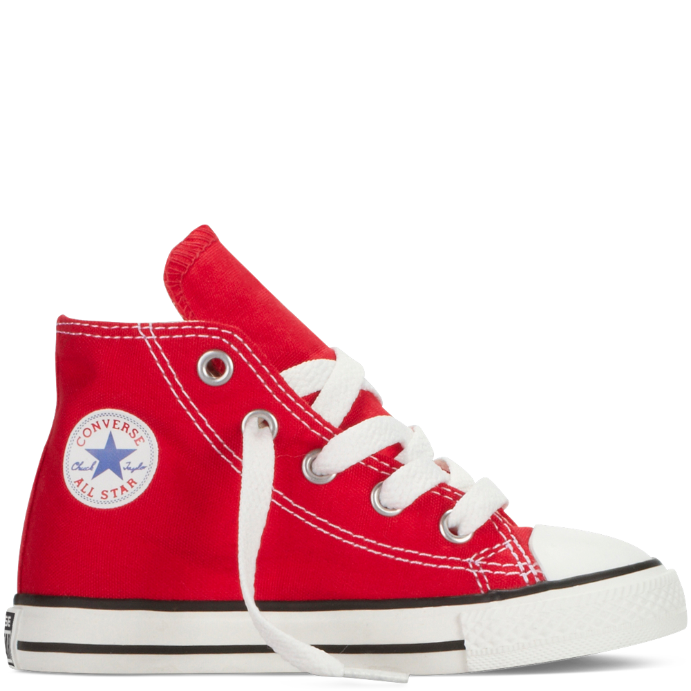Converse shoes red high tops