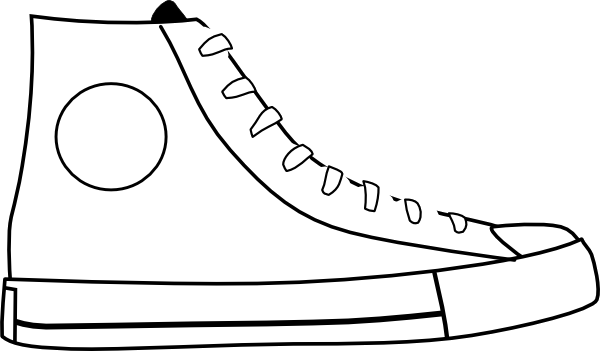 Converse clipart printable. Pete the cat white