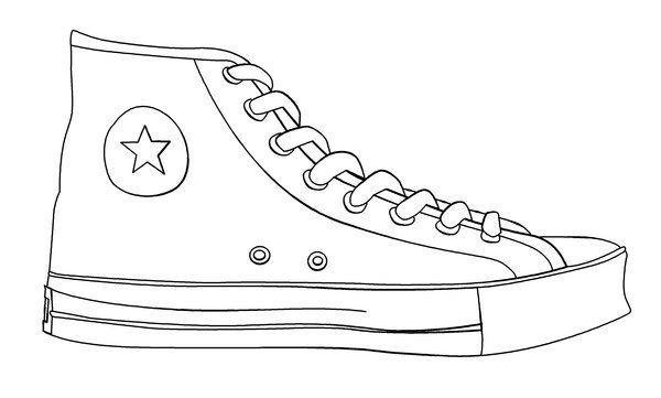 Converse clipart printable. Shoe templates template art