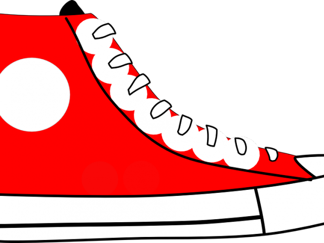 Converse clipart red clipart. Clip art tennis shoes