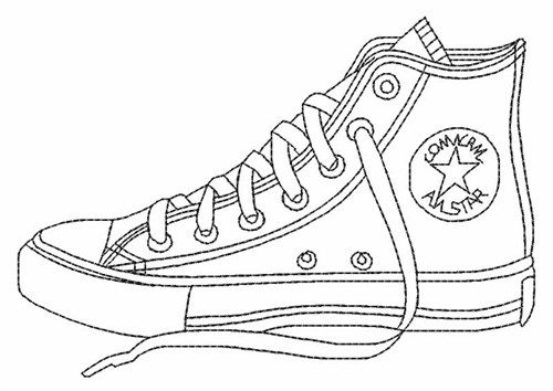 Converse clipart sneaker coloring. Shoes pages printable enjoy