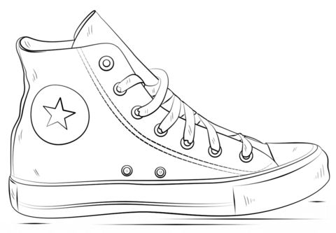 Basketball Shoes Coloring Pages - GetColoringPages.com | 333x480