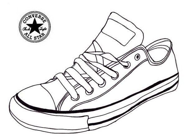 Page shoes . Converse clipart sneaker coloring