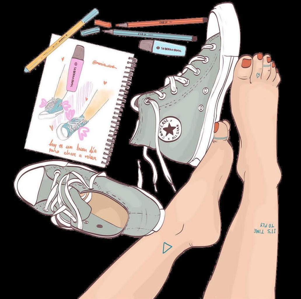 School drawing. Converse clipart tumblr sticker