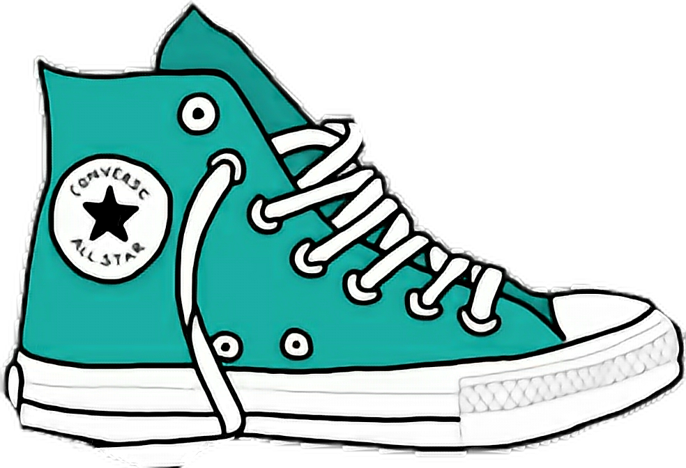 Converse clipart tumblr sticker. Drawing transparent cartoon