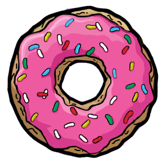 Pin by gabriela carpeggiani. Donuts clipart kawaii