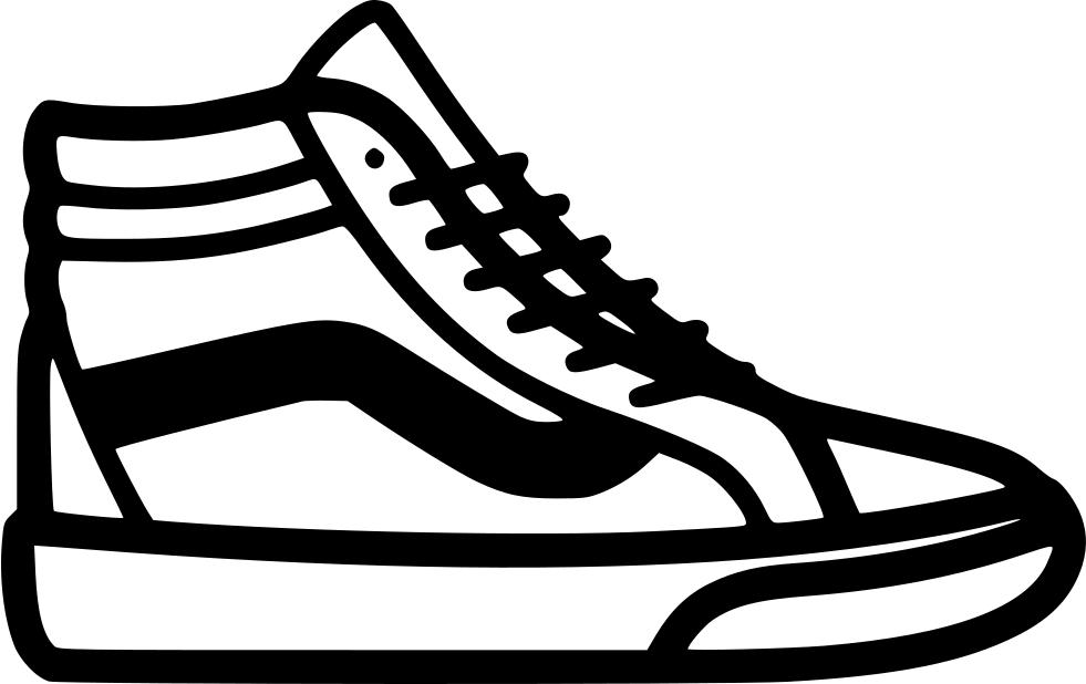 Converse clipart vans shoe. Sk hi svg png