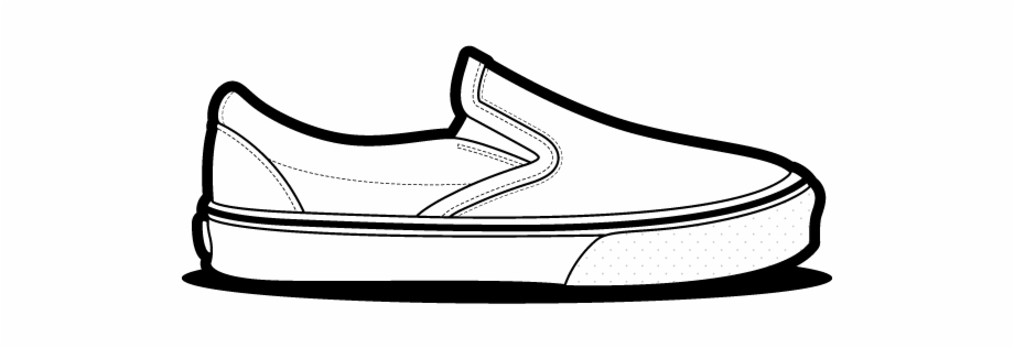 Converse clipart vans shoe. Slip on drawing free