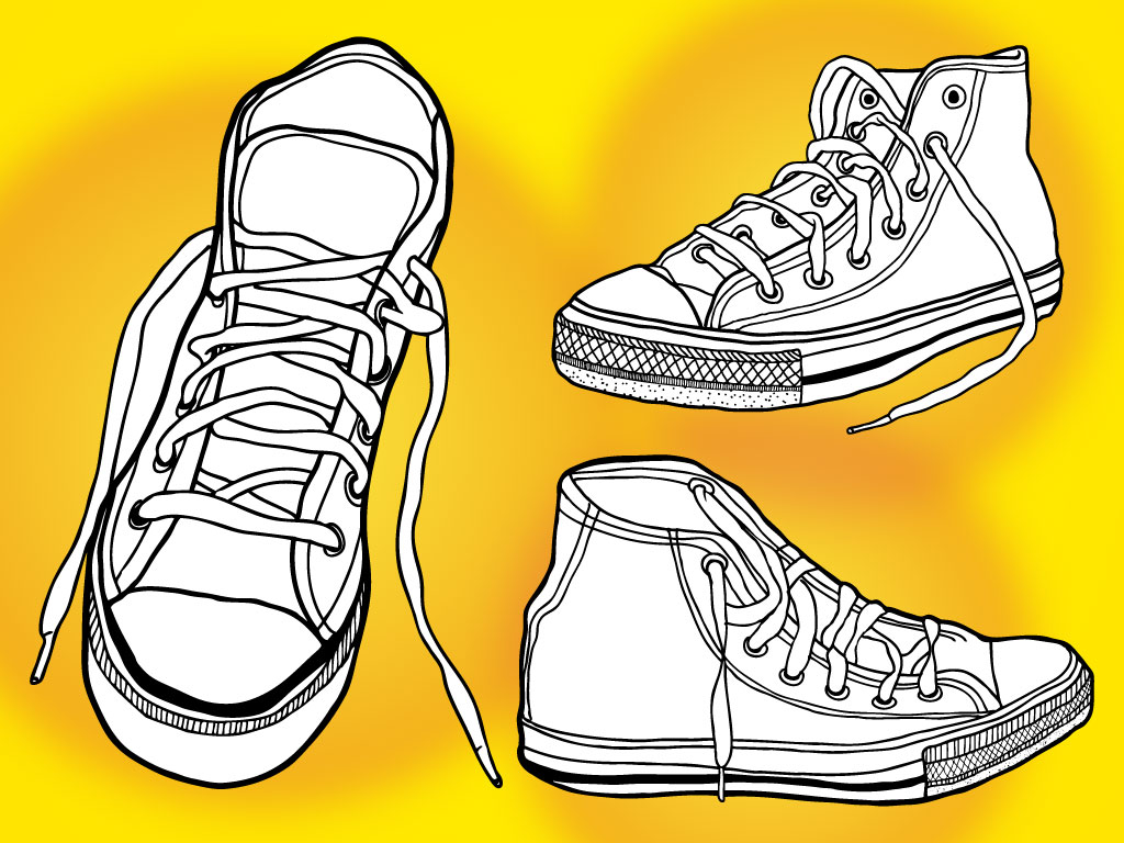 Free shoes download clip. Converse clipart vector