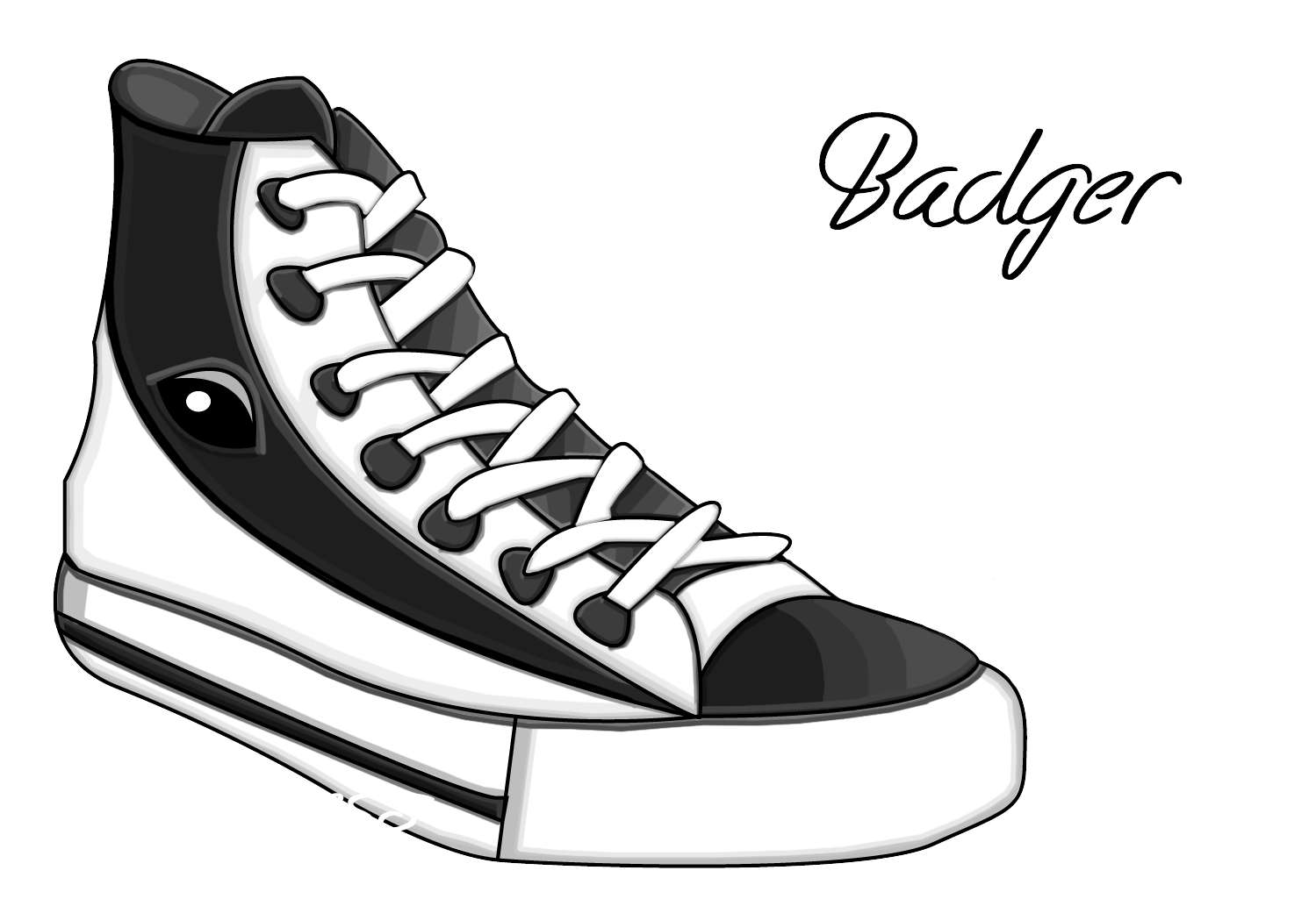 Badger shoe by caziiness. Converse clipart vector