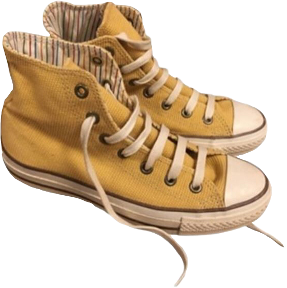 Aesthetic yellowconverse. Converse clipart yellow